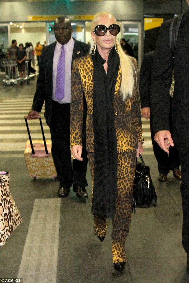 Ready for anything! Donatella certainly doesn
