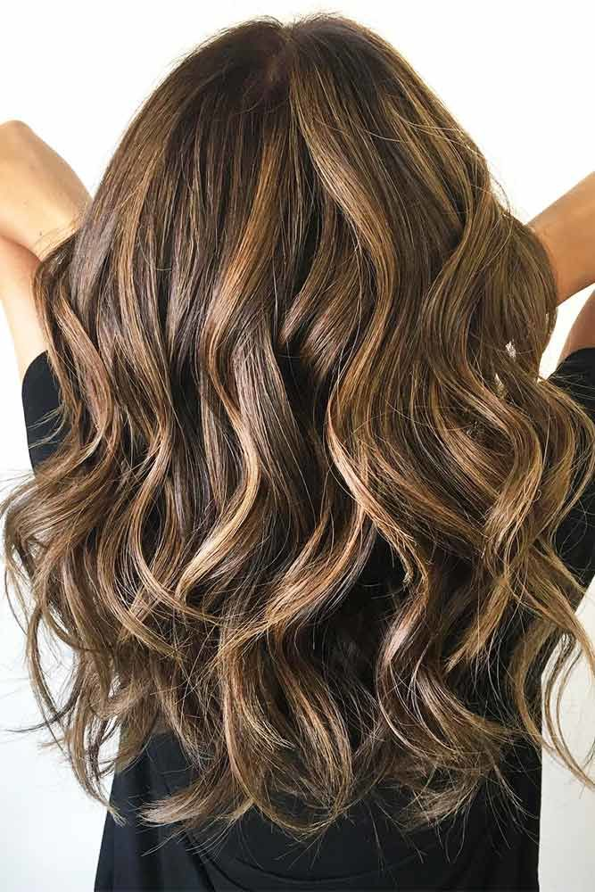 Wavy Long Hairstyle Brown #longhaircuts