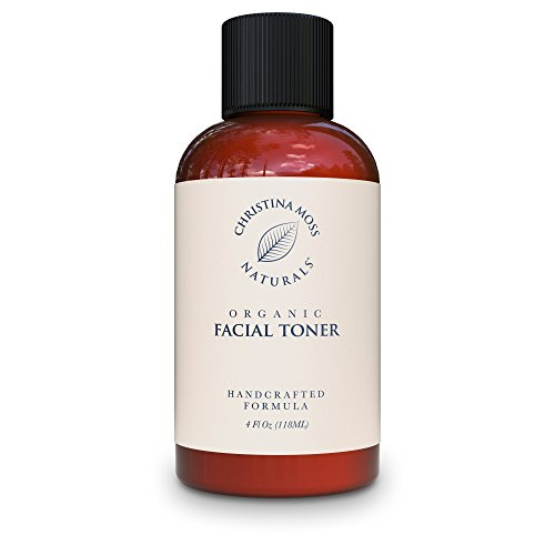 Christina Moss Naturals Facial Toner - Face Toner Made with Organic & Natural Ingredients - Skin Clearing, Refines, Tightens Pores, Hydrates, Restores pH. No Harmful Chemicals or GMOs 4oz Unscented